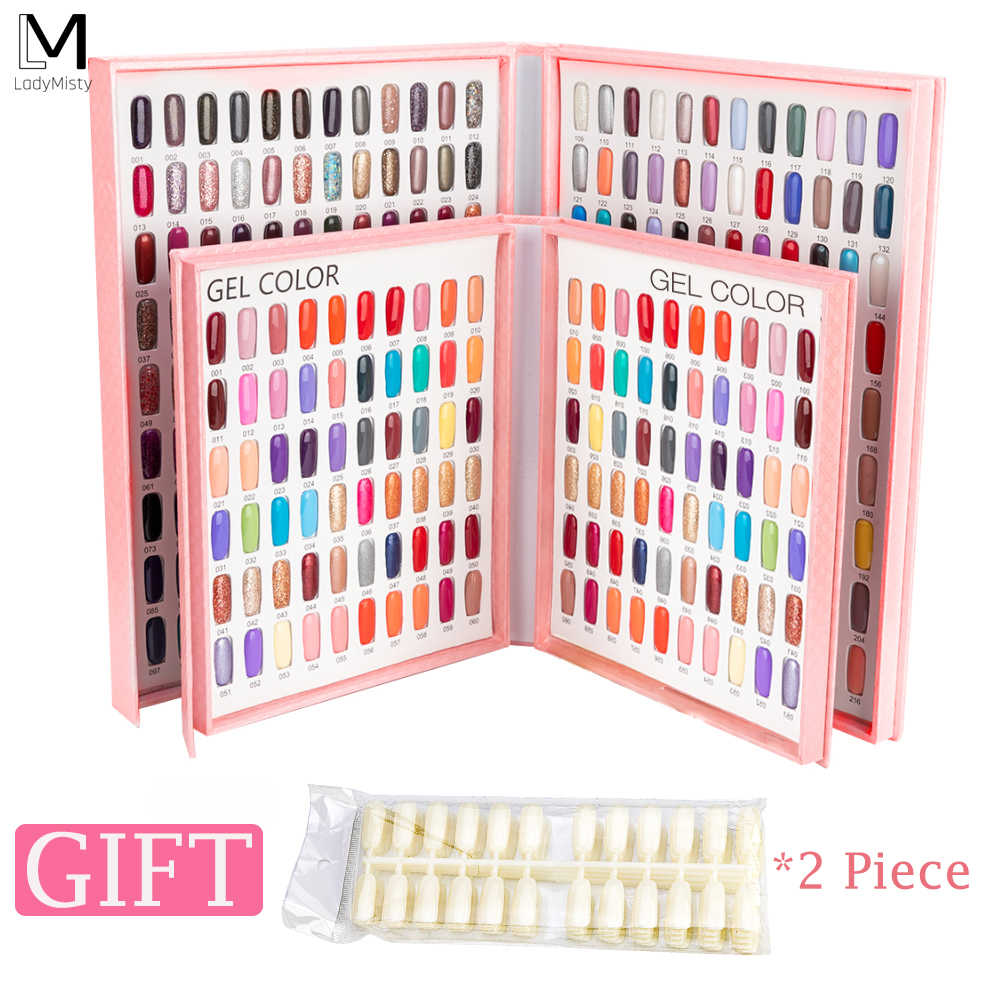 Professional Model Nail Gel Polish Color Display Box Book Dedicated 216/120 Color Card Chart Painting Manicure Nail Art Tools
