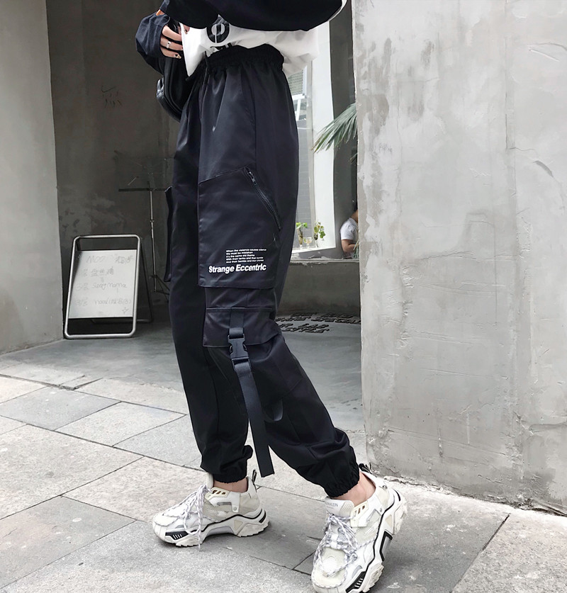 Hot Big Pockets Cargo pants women High Waist Loose Streetwear pants Baggy Tactical Trouser hip hop high quality joggers pants 40