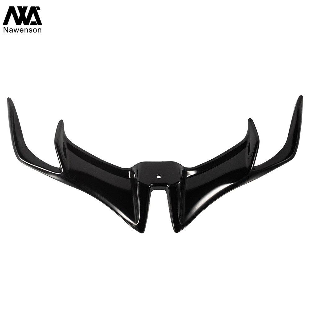 Black Ala de carenado kit de alas 1 par de ala aerodin/ámica de motocicleta universal