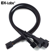 Splitter-Hub Cables Fan-Sleeved Extension 4pin-Cooler Pwm-4pin 4-Pin-To-2-3-4-Way CPU