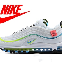 Sports-Sneakers Running-Shoes Silver Air-Max Nike Outdoor Breathable Original Men 97
