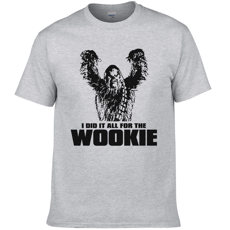 Star Wars Chewbacca Text T-Shirt Homme
