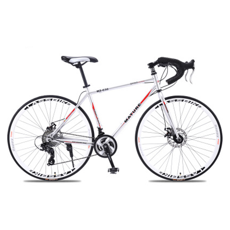 Road Bicycle Ultra-Light Aluminum-Alloy 700c 27and30speed 21 Sand Two-Disc title=