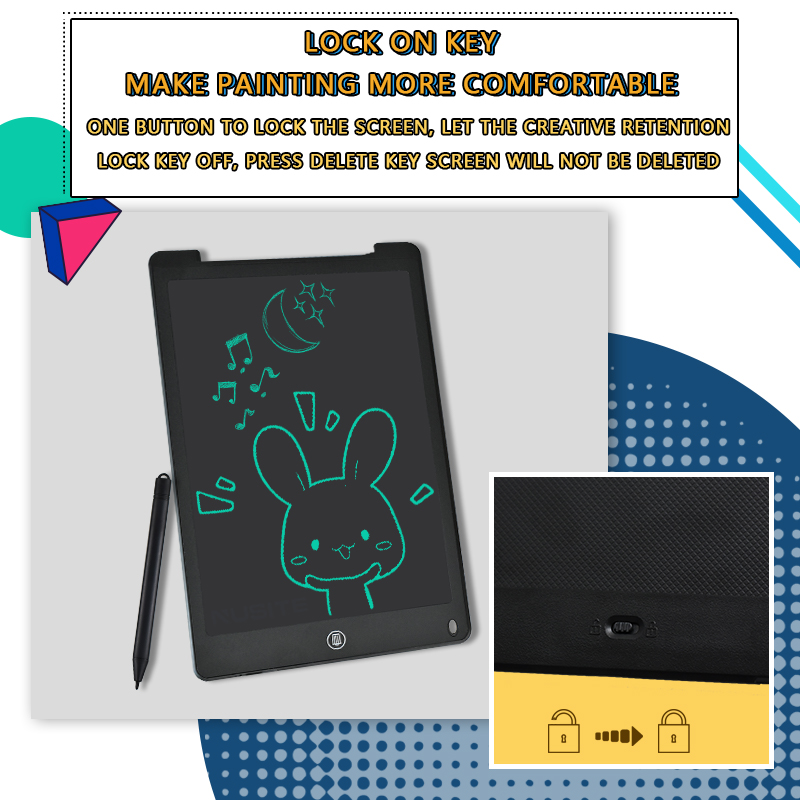 12 Inch LCD Writing Tablet Electronic Drawing Doodle Board Digital Colorful Handwriting Pad Gift for Kids and Adult Protect Eyes 6
