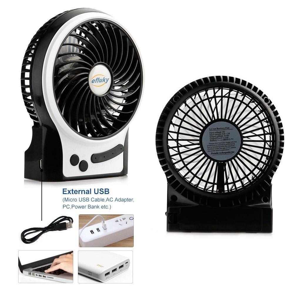 Portable USB Ventilateur Oscillant de Bureau Avec t/ête Rotative R/églable Ventilateur de Tour de Refroidissement Slencieux Ventilateur /électrique Silencieux Pour Bureau Ext/érieur Bureau /à Domicile