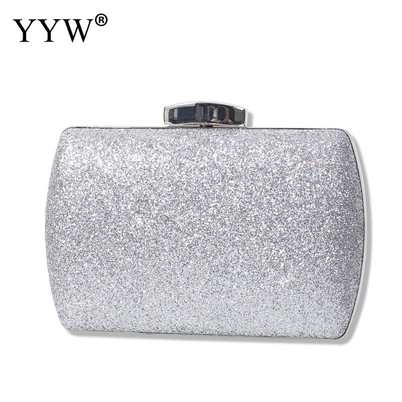 Women Handbags Silver Sequins Evening Clutches Purse For Ladies Glitter Cocktail Party Wedding Bags Red Elegant Clutch Bag title=