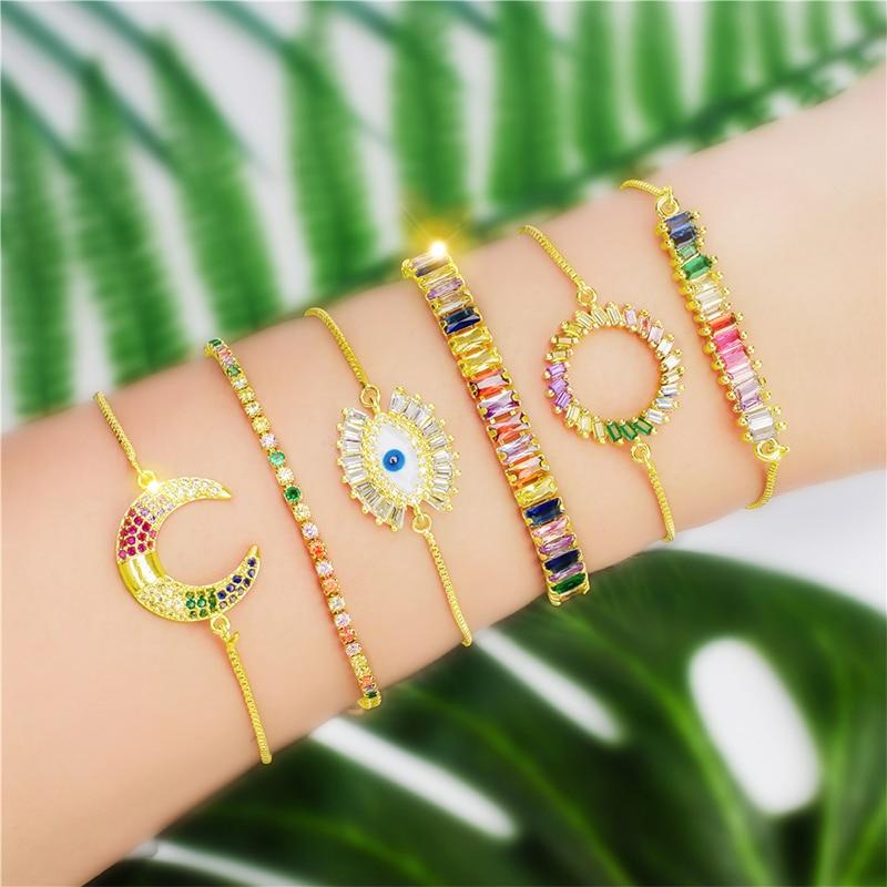 Charm-Women-Bracelet-Rainbow-Zircon-Snake-Chain-Bracelet-AAAAA-Adjustable-Bracelet-for-Women-Fashion-Jewellery-Bracelet