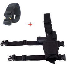 Belt Holster Pistol Military-Gear Drop-Leg Tactical-Gun Hunting-Airsoft Pouch Nylon Adjustable