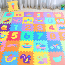 10Pcs/set 30*30cm Number Animal Pattern Baby Play Mat Puzzle Toys For Kids Kids