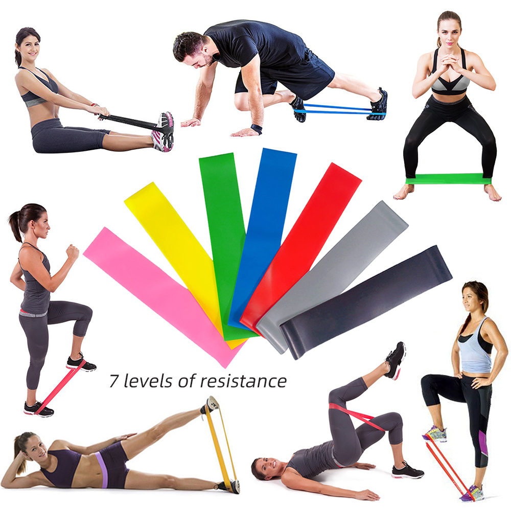 Elastic Resistance Band Workout Exercise Thigh Training Strap Fitness Yoga