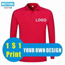 WESTCOOL2020 Autumn New Men And Women Long-Sleeved Polo Shirts Tops Work Clothes Custom Logo Embroidery Printing Pictures