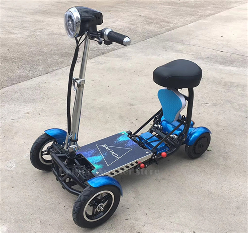 Daibot Electric Elderly Scooter 4 Wheels Electric Scooters 10 Inch 500W Foldable Electric Scooter For Disabled BlueBlackRed (8)