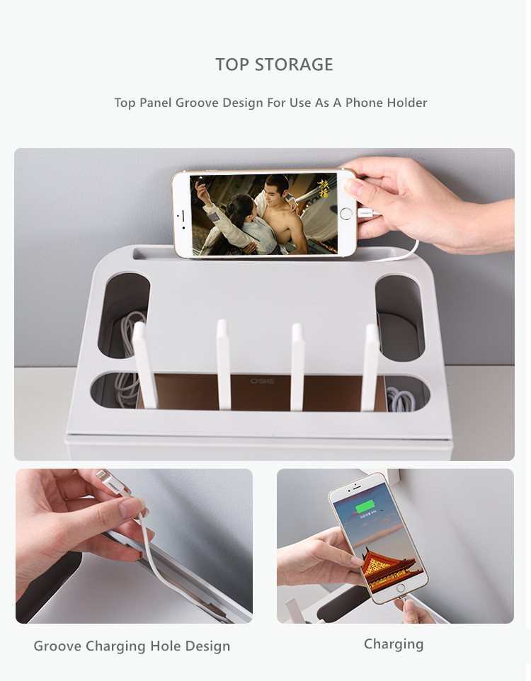 Double Layers Drawer Type WIFI Router Storage Box 65