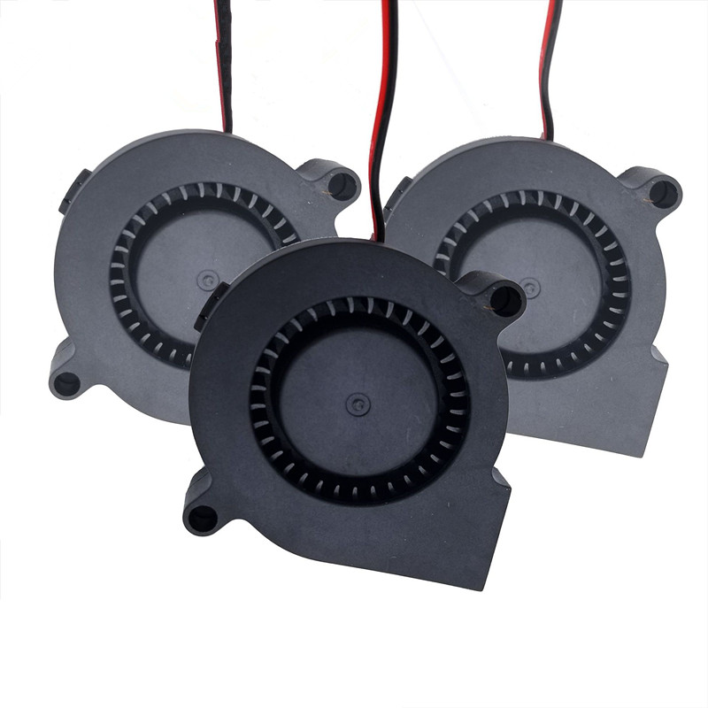 5 Pieces DC24V Cooling Fan Ultra Quiet Turbine Small DC Blower 5015 for 3D Printer Circuit Board ILS