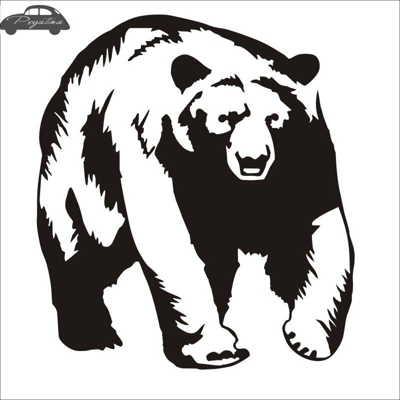 Pegatina Hunt Bear Sticker Hunter Club Decal Gun Shop Hollow Hunting Car Window Vinyl Decal Funny Poster