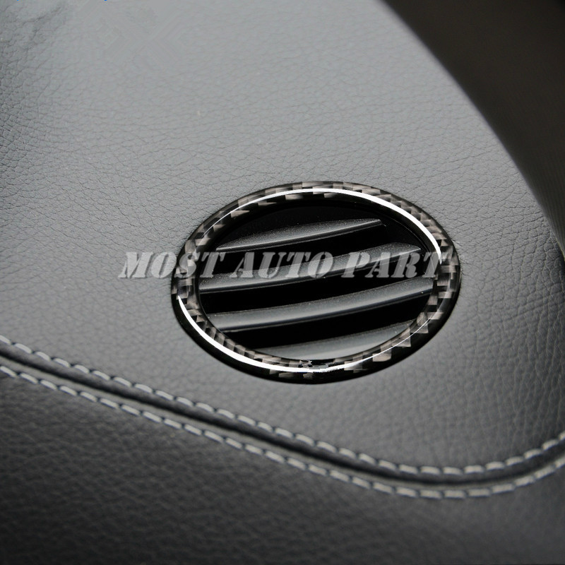 Matt chrome DASHBOARD AC Air Vent Trim cover Ring Benz X204 GLK GLK300 350 09-15