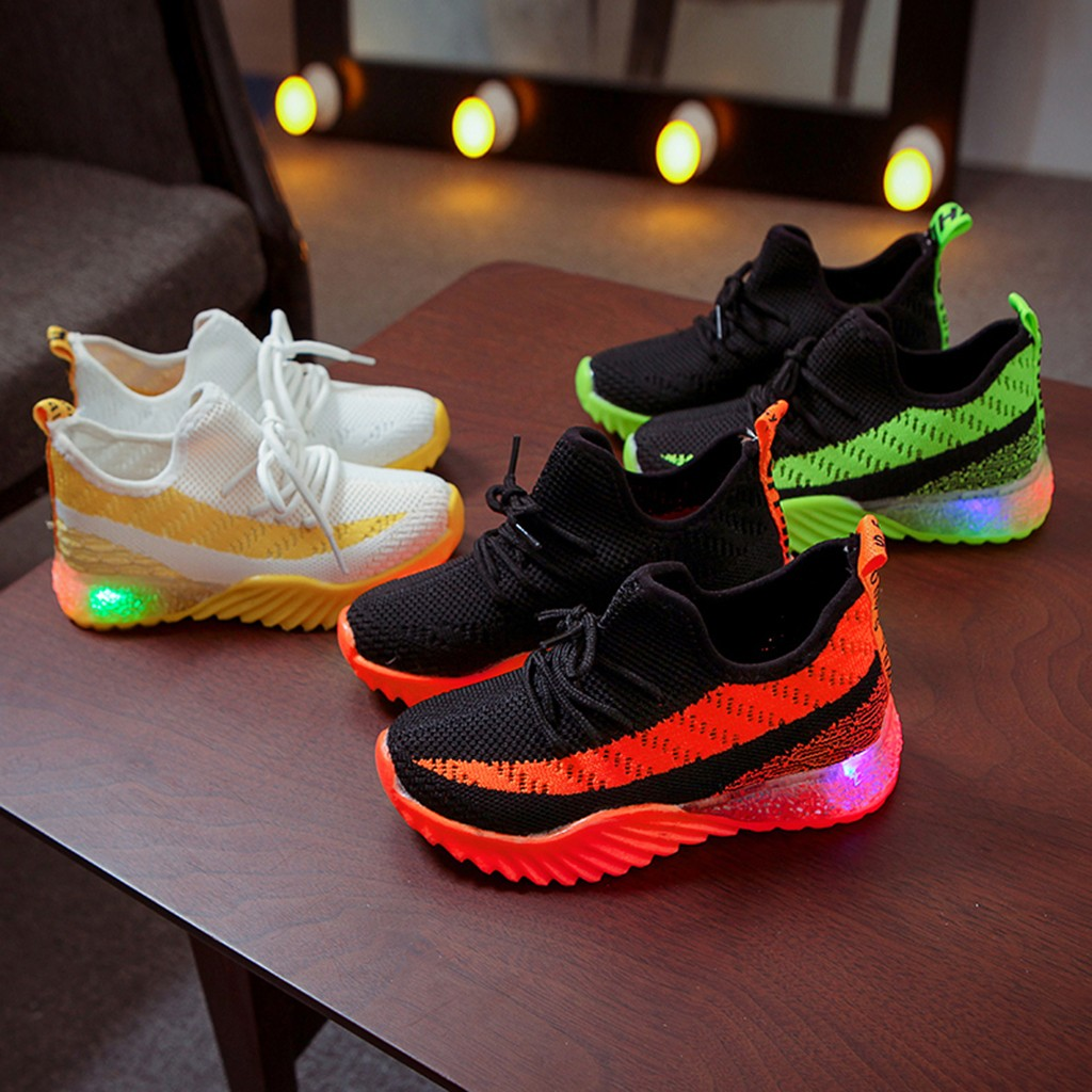 Shoes Children Sneakers Led-Light Candy-Color Baby-Girls-Boys Sport Luminous Kid Enfant