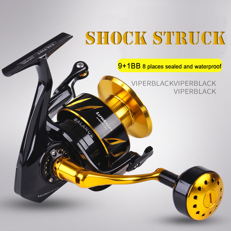Lurekiller fishing rod Saltwater Spinning Jigging fishing Reel Spinning reel 10BB Alloy reel 35kgs drag power Japan Made