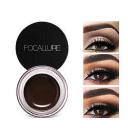 FOCALLURE Eyes Comestic Waterproof Eyebrow Gel Makeup Long Lasting Liquid Eyebrow Cream Eye Brow Makeup Set + Black Brush