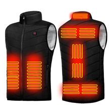 Heated Vest Jacket Waistcoat Electrical-Heated-Sleevless-Jacket Fishing Hunting Outdoor