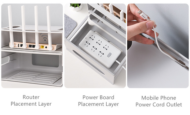 Double Layers Drawer Type WIFI Router Storage Box 81