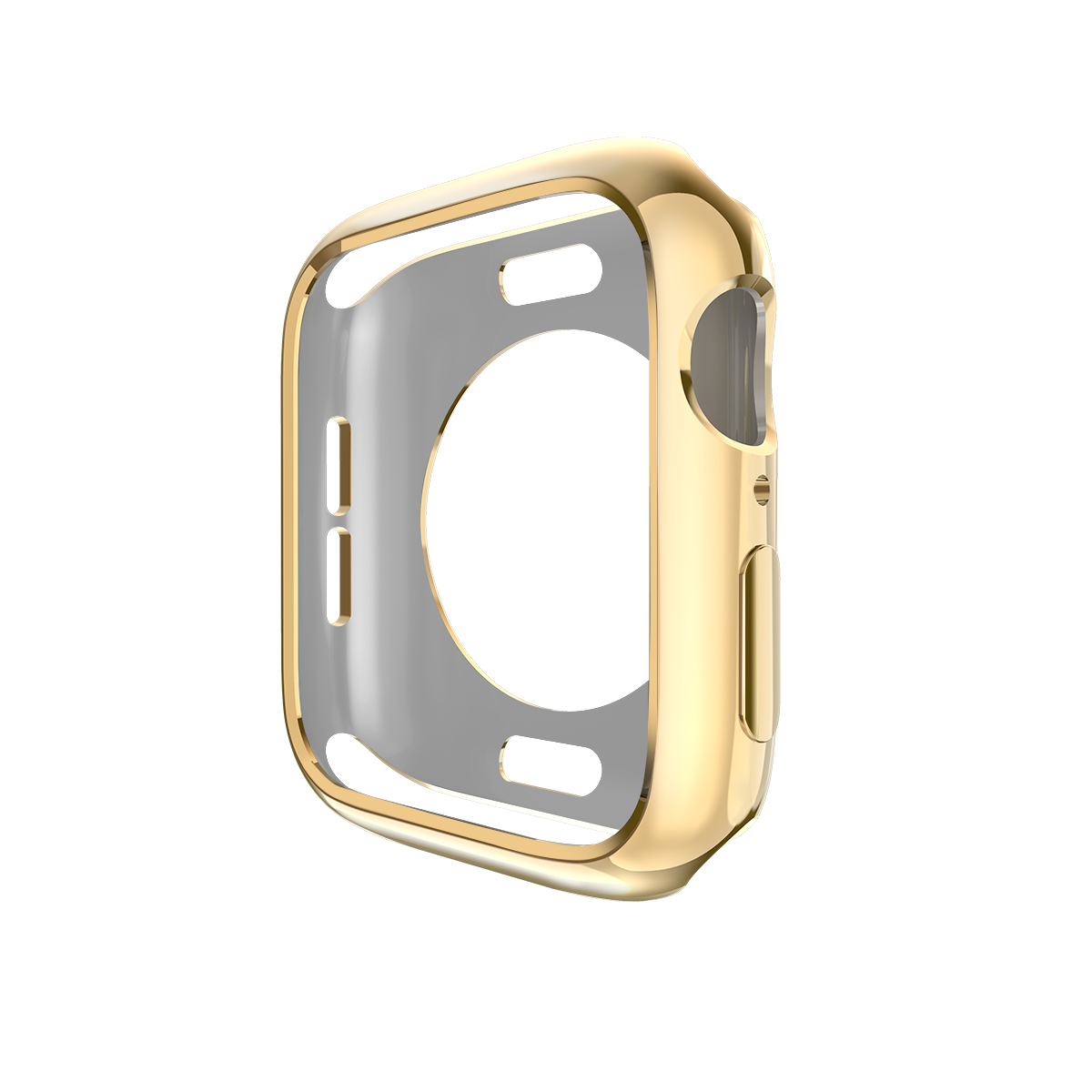 Watch cover Case for Apple Watch 4 5 40mm 44mm Scratch Half pack electroplating TPU cases For iWatch Series 3 2 42mm 38mm