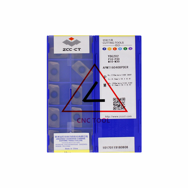 stainless 10pcs Original ZCC.CT ONHU08T508-PF YBG202 Carbide inserts for steel