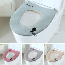 Toilet-Seat-Cover Wc-Mat Home-Decoration-Accessories Warm Soft Winter Plush Zipper Universal