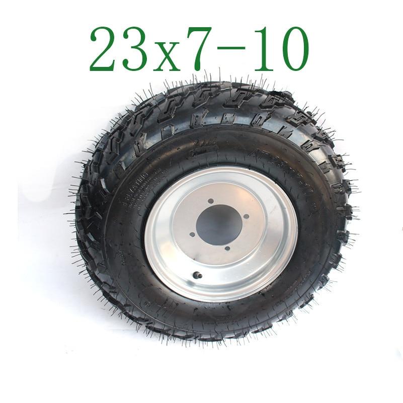Go kart 2 Tire with 2 Tube 23 X 7-10 Wheel Rim Tyre Quad Bike ATV Buggy