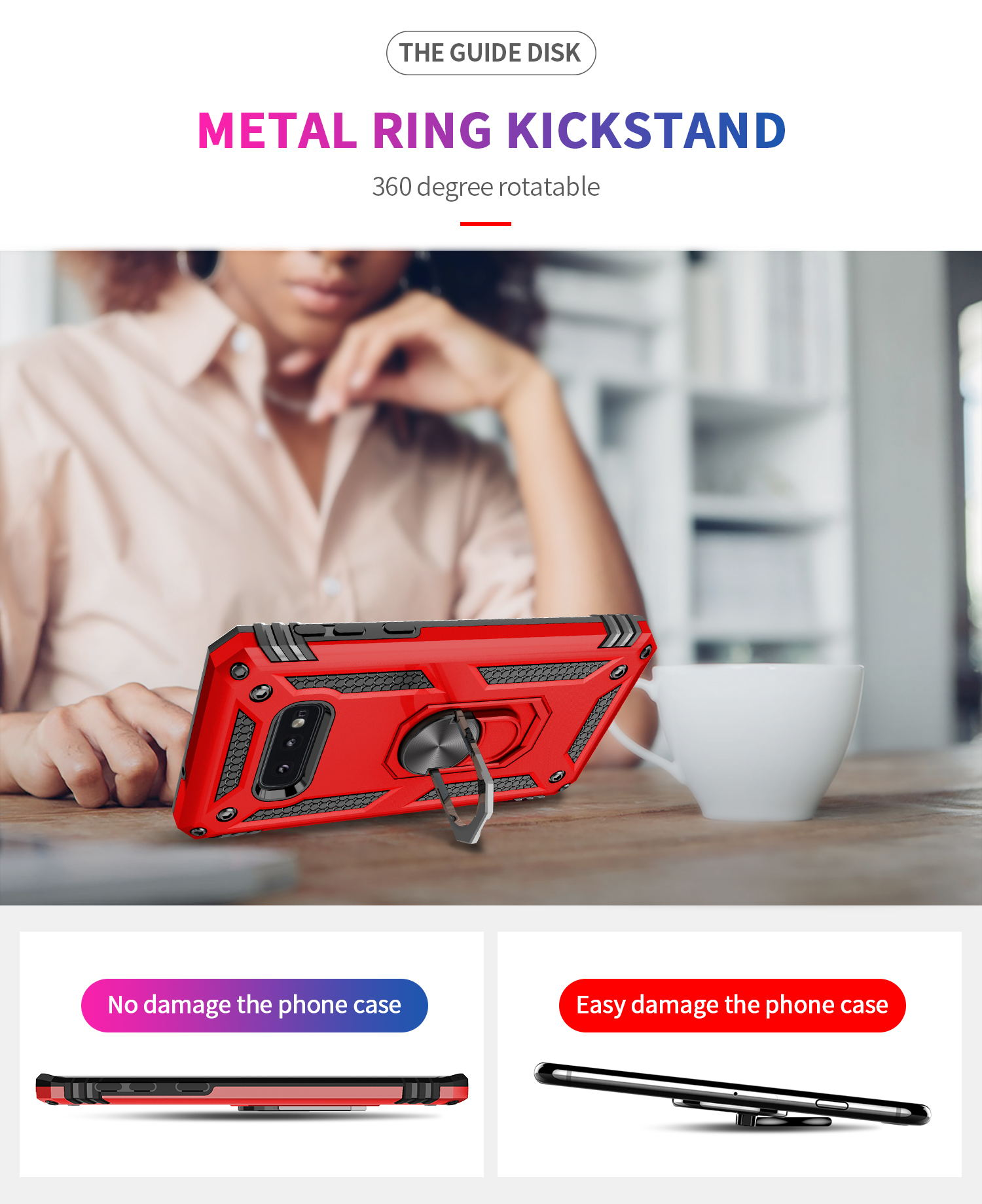 Luxury magnet metal phone case for Samsung S9 S10 S8 Note 9 10 shockproof crash shell car bracket silicone case