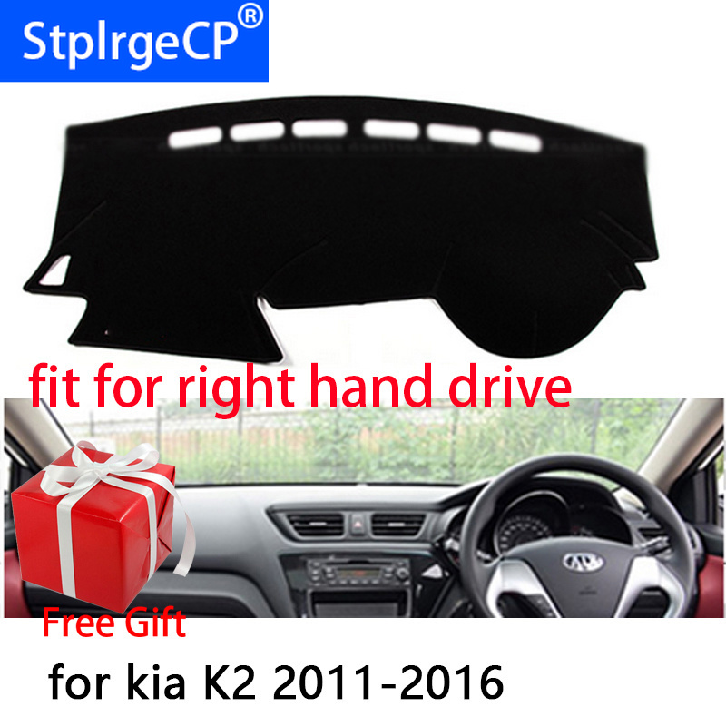 Black Dashboard Mats Dash Mat for 2018 KIA Picanto RH Drive