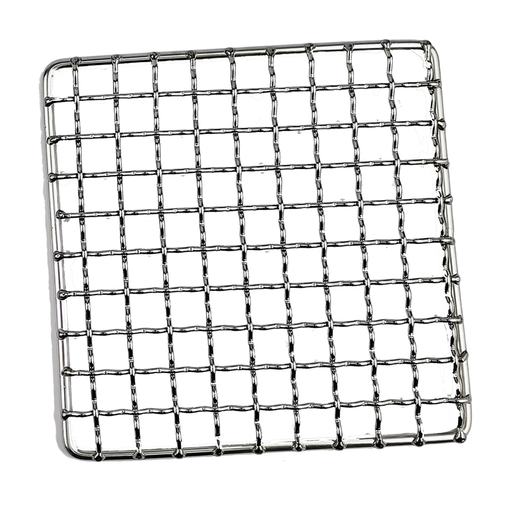 Stainless Steel Barbecue Grill Net, Meshes Grate Wire Net Camping Hiking Outdoor Grill