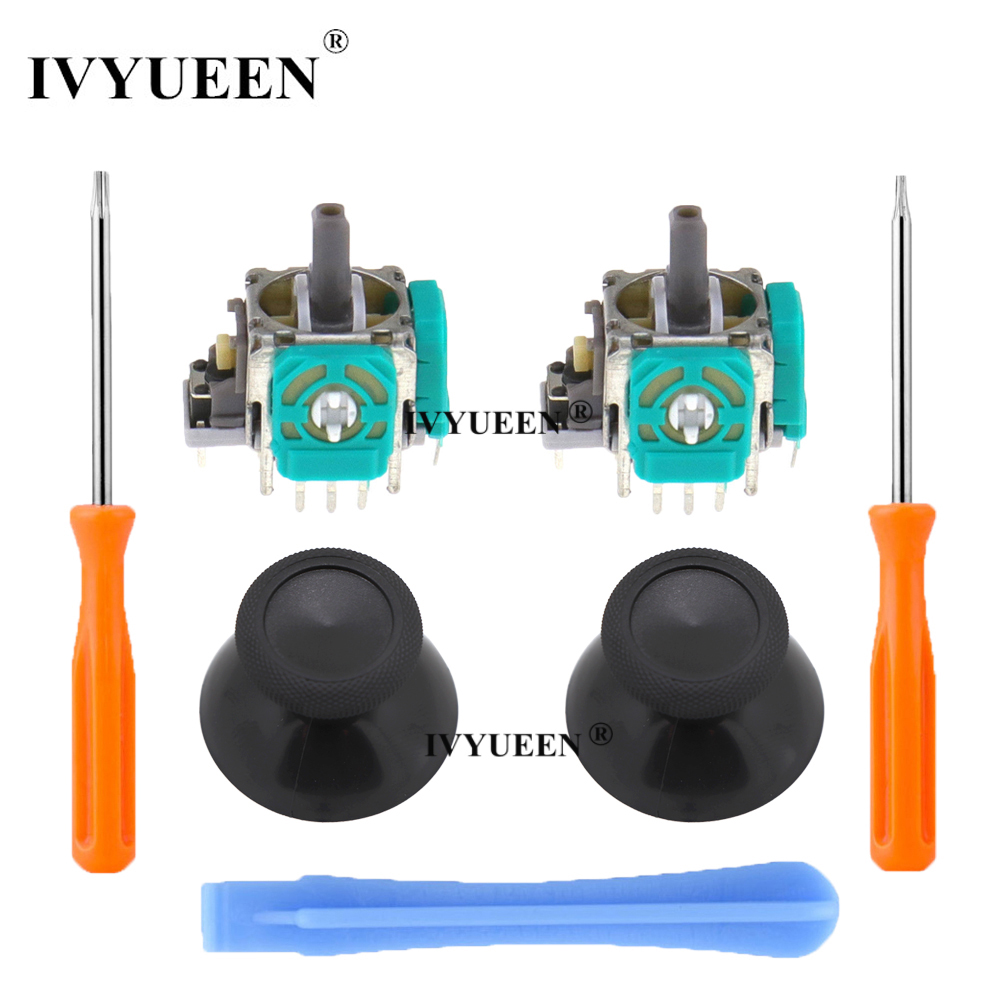 IVYUEEN 2 PCS 3D Analog Joystick Stick Sensor Module Potentiometers & ThumbStick for Microsoft XBox One S X Wireless Controller
