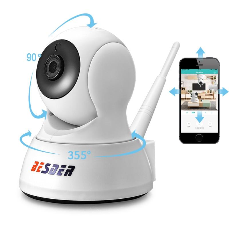 Камера видеонаблюдения BESDER, беспроводная мини-камера безопасности, 1080 пикселей, 720 пикселей, есть функция ночного видения, двусторонняя аудиосвязь, радионяня, iCsee, WiFi