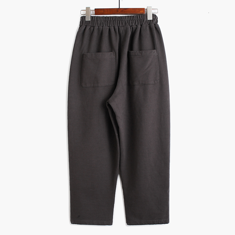 High Elastic Waist Gray Pocket Split Joint Wide Leg Trousers New Loose Fit Pants Women Fashion Spring Autumn 2020
