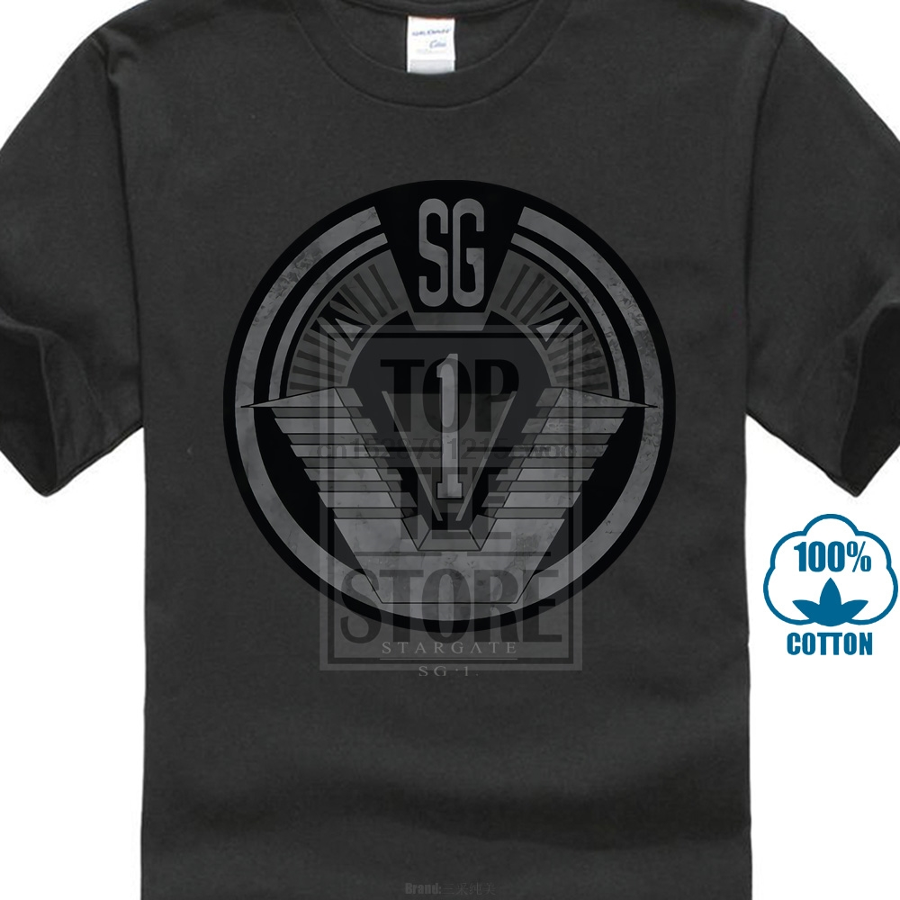 Stargate SG-1 Show SG1 DISTRESSED Licensed Adult Long Sleeve T-Shirt S-3XL