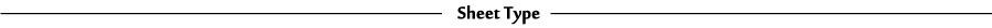 sheet type