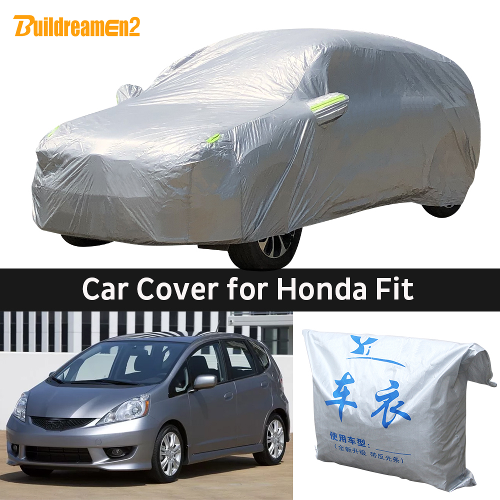 Car-Cover Dust-Protection-Cover Snow-Frost Honda Fit Jazz Outdoor-Sun Anti-Uv Rain  title=