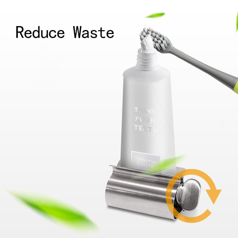 Stainless Steel Bathroom Accessories Set Toothpaste Squeezer Tube Toothpaste Dispenser Rack