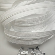 Zipper Double-Sliders White Sewing-Craft Closed-End Bulk Quilt Nylon for Wholesale DIY