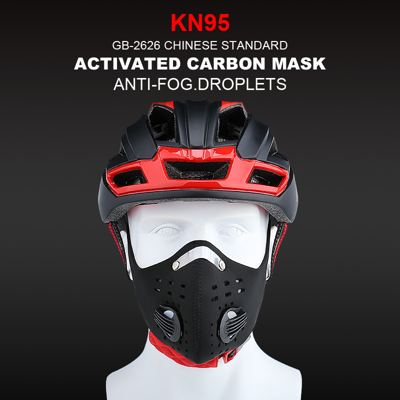X-Tiger Washable Sports Training Antiviral Mask With Filter Activated Carbon PM2.5 Anti-Pollution Cycling Face Mask With Earloop title=