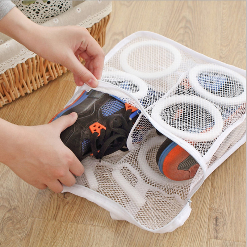 Shoes Laundry-Mesh Storage-Organizer Hanging-Bag Zipper Polyester Portable High-Quality title=