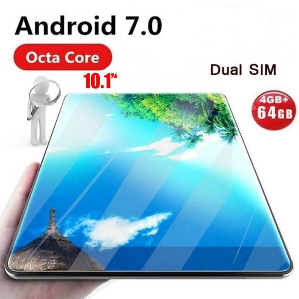 10 inch Global Tablet Android 7.0 OS  tablet 4G FDD LTE Octa Core 4GB RAM 32GB ROM 1280*800 IPS 2.5D Glass Kids Tablets 10 10.1