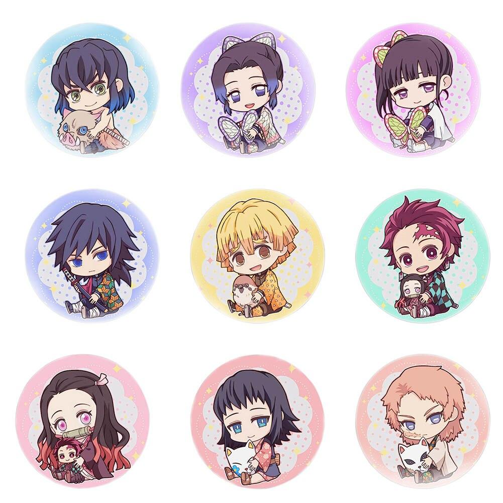 "Anime Costumes Badge Trendy Demon Slayer: Kimetsu no Yaiba Cosplay Brooch Pins Schoolbag 5.8CM(2.3"")"