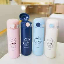 Vacuum-Flasks Tumbler Straw Thermal-Water-Bottle Stainless-Steel Cartoon Mug Travel Portable