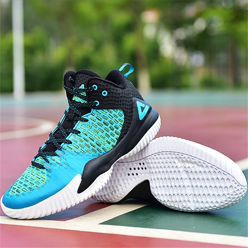 PEAK Basketball-Shoes Lou Williams Outdoor Breathable Master Nonslip Safety-Rebound Plus-Size title=