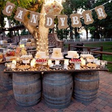 Banner Sweet-Table-Decor Candy-Bar Birthday-Party Vintage Wedding Paper Baby Shower DIY