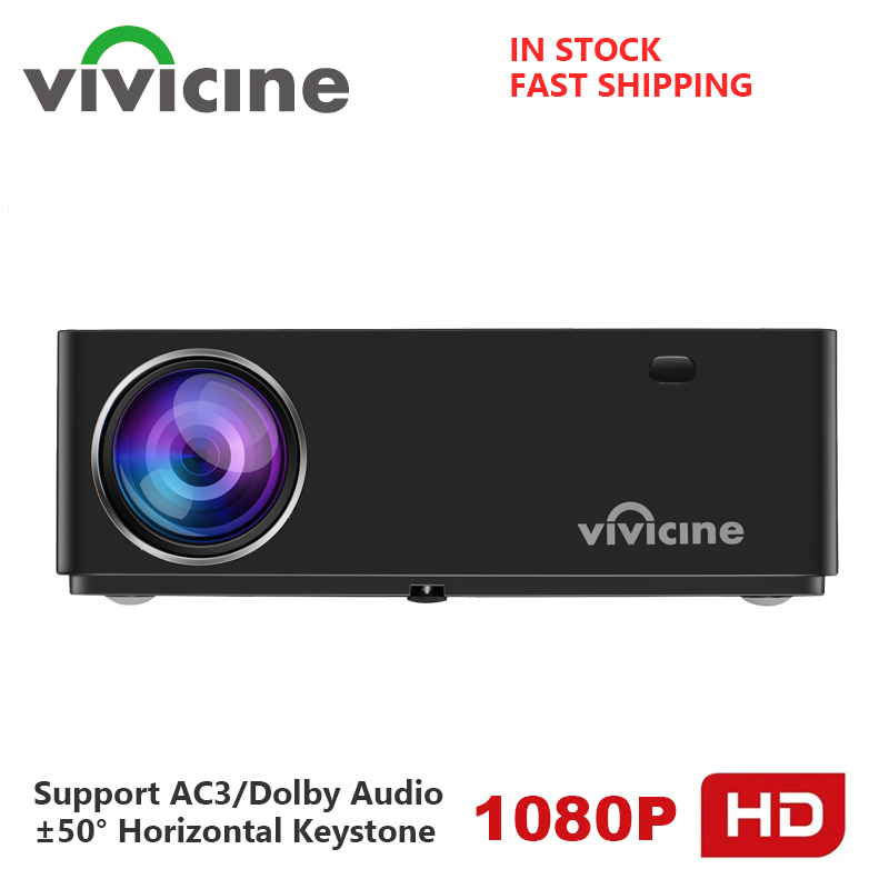 Vivicine M20 Newest 1080p Projector,Option Android 9.0 1920x1080 Full HD LED Home Theater Video Projector Beamer Support AC3