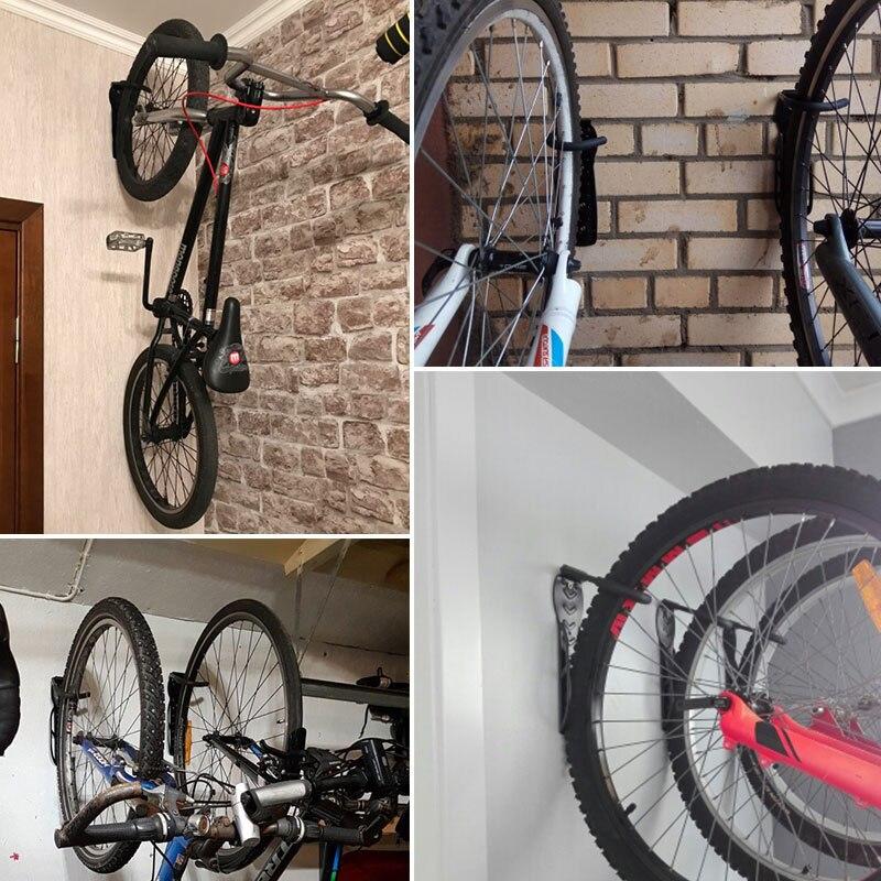 Tbest Soporte de Pared para Bicicleta,Ganchos para Colgar Bicicletas en Pared Ajustable Soporte para Colgar Bicicleta en Pared Soportes de Pared Almacenamiento Suspensi/ón de Bicicleta de Monta/ña