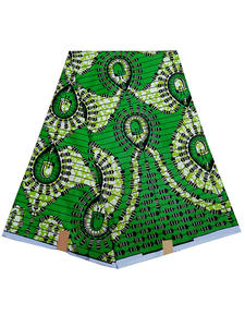 2019 New Fashion Green African Print Fabric pagne wax African Wax Fabric